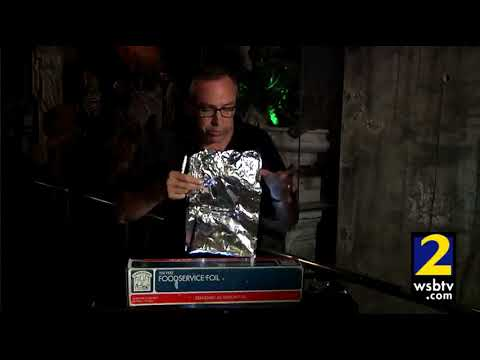 Haunted House Tip:  Use aluminum foil to make spooky lighting