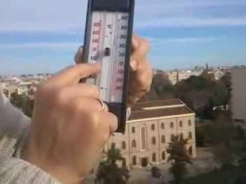 El termómetro de máximas y mínimas.