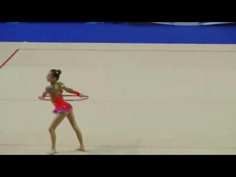 Суша Анастасия,обруч.Первенство России по гимнастике г.Казань 2014