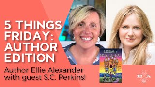 Cozy Mysteries Author Interview ☠️📚 5 Things Friday - S.C. Perkins