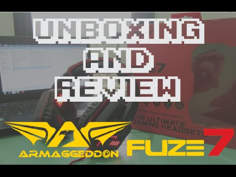 ARMAGGEDDON FUZE 5 7.1 GAMING HEADSET (Yellow)