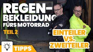 Motorrad-Regenbekleidung: Einteiler vs. Zweiteiler