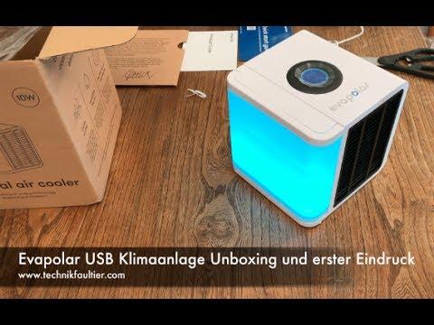 Evapolar USB Klimaanlage Unboxing und erster Eindruck