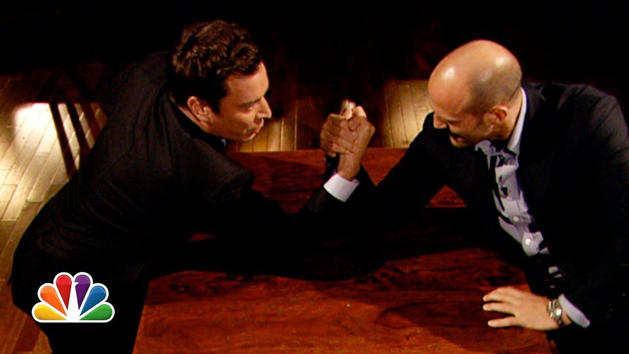 Jimmy Fallon and Jason Statham Arm Wrestle (Late Night with Jimmy Fallon) thumbnail