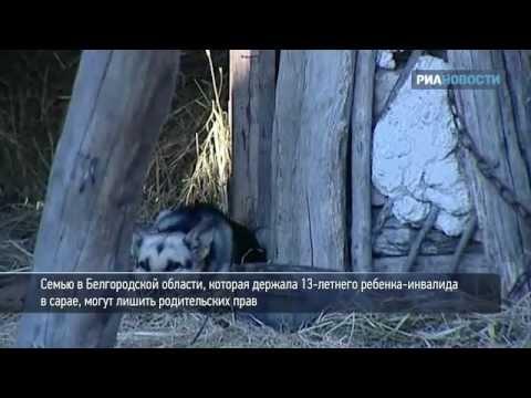 Белгородская семья держала ребенка-инвалида в сарае