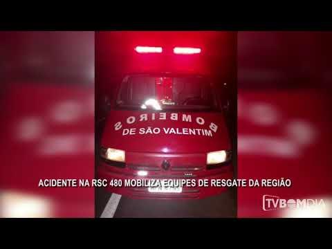 Acidente na RSC 480 em Barão de Cotegipe mobiliza equipes de resgate da região.