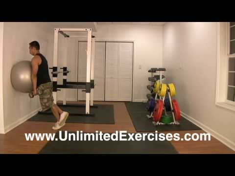 Stability Ball - Dumbbell Calf Raise Left