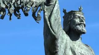 Declaration of Arbroath Statue in Arbroath, Scotland