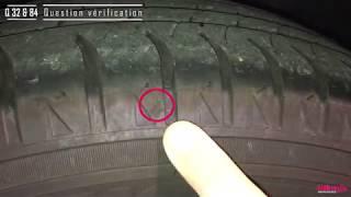 Le témoin d'usure des pneumatiques