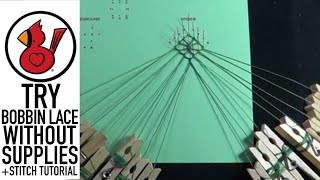 TRY BOBBIN LACE WITHOUT SUPPLIES/STITCHES TUTORIAL Video #220
