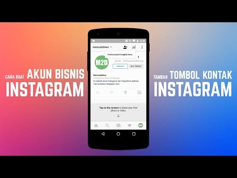Video Cara Membuat Akun Bisnis Instagram - Tambah Tombol Kontak