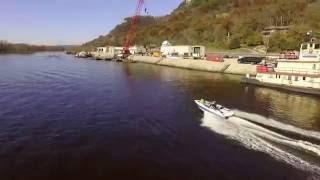 Mississippi Drone Boat Chase (Follow-me mode, DJI Phantom 3 Professional)