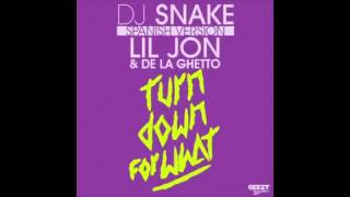 DJ Snake ft  Lil Jon , De La Ghetto   Turn Down For What 2014 english