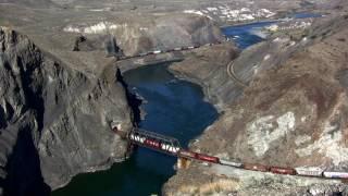 Canada:  Trains through Black Canyon - British Columbia