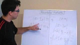 Nerovnice s jednou absolutní hodnotou 3