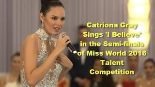 Catriona Gray - Miss World 2016 Talent Competition