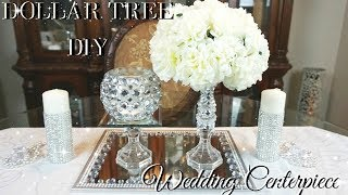 DIY DOLLAR TREE WEDDING CENTERPIECE 💎 DIY DOLLAR STORE BLING WEDDING DECOR 💎 CENTERPIECE IDEAS