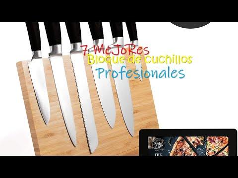 🥒🥩Los Mejores 7 Bloque de cuchillos Profesionales