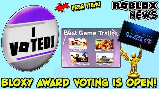 """[EVENT] FREE """"I VOTED"""" PIN AND HOW TO VOTE IN 2021 8th ANNUAL BLOXY AWARDS ON ROBLOX"""