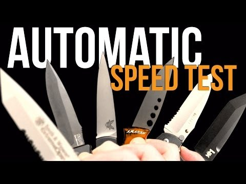 Automatic Knife Speed Test: which opens fastest?