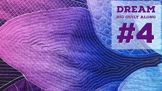 Dream Big Quilt Along #4 - How To Free Motion Quilt Inner Spiral