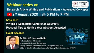 Research Article Writing & Publications: Session 2: Writing a Successful Conference Abstract | IFERP