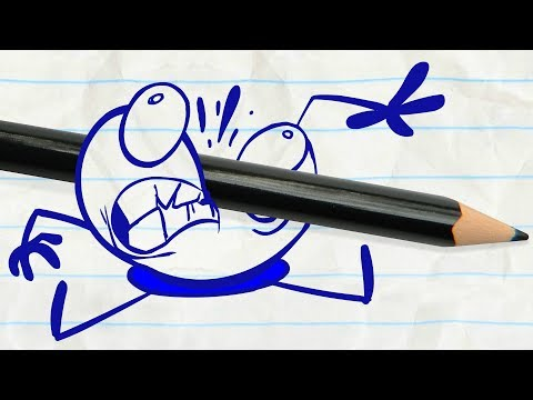 Pencilmate Tries to Eat Sushi! -in- CHOPSTICKY SITUATION – Pencilmation Cartoons for Kids