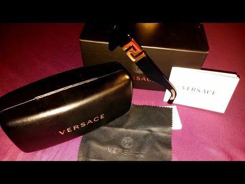 Men,Versace Black Greca Squared Sunglasses
