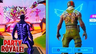 How To Get PARTY ROYALE REWARDS in Fortnite Battle Royale! (NEON WINGS)