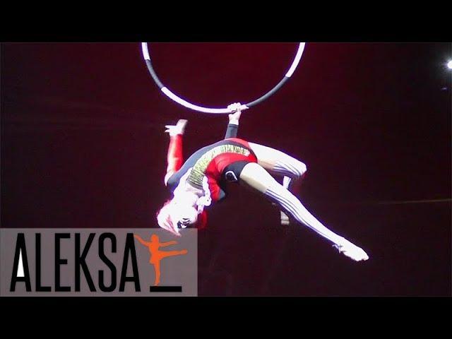 Танец на воздушном кольце - Red Queen - акробатика на кольце. Мария Грибенко - ученица Aleksa Studio