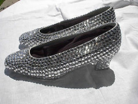 Silver Shoes - Crystal Sequin Cinderella - The Wizard of Oz Silver Shoes