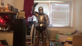Putting on and talking about my full plate armor