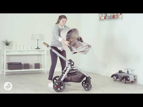 Zelia Stroller - How to convert from bassinet to seat?