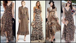 Fabulous And Elegant Leopard Print Maxi Dress Design