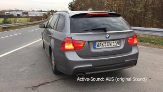 Active Sound an einem BMW E91 320d Touring Diesel made by insideperformance