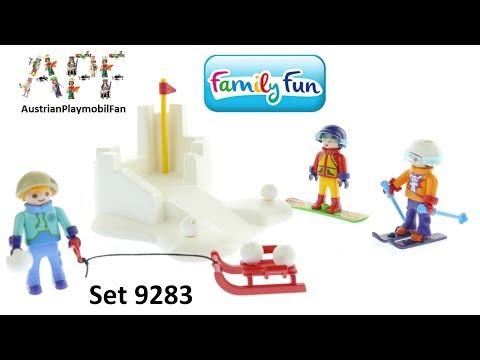 Vidéo PLAYMOBIL Family Fun 9283 : Enfants avec boules de neige