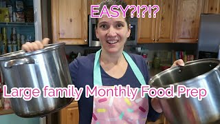 Once a month LARGE FAMILY MONTHLY food prep