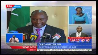 Auditor General Edward Ouko maintains he will not leave office despite petition filed against him