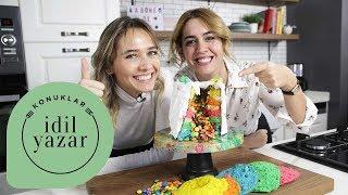 Gökkuşağı Pasta Tarifi   Pasta Yapımı   Bengi Kurtcebe   İdil Yazar ile Yemek Tarifleri
