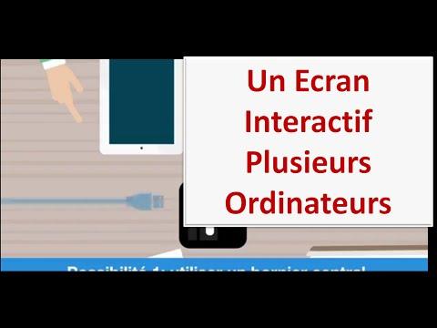 Connecter 3 ordinateurs sur un seul écran interactif