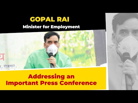 Minister of Employment Shri Gopal Rai Ji addresing an Important Press Conference | LIVE