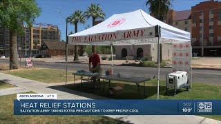 Heat relief stations in the Valley