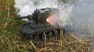 КВ-2 из пластилина, ВЗРЫВАЕМ петардами, имитация арты, World of Tanks
