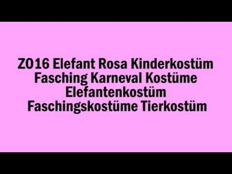 ZO16 Elefant Rosa Kinderkostüm Fasching Karneval Elefantenkostüm Faschingskostüme Tierkostüm