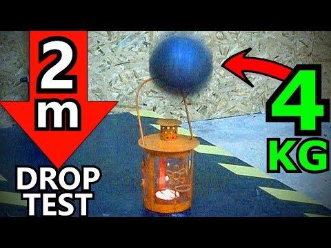 4 KG STAHLKUGEL vs LATERNE mit brennender KERZE | Drop Show Experiment