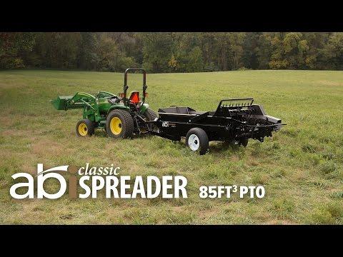 85 cuft PTO Driven ABI Classic Manure Spreader