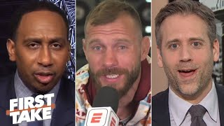 """Donald """"Cowboy"""" Cerrone sits down with Stephen A. Smith and Max Kellerman to discuss his upcoming UFC 246 fight vs. Conor McGregor.  #FirstTake #MMA ✔ Subscribe to ESPN+ https://plus.espn.com/ ✔ Get the ESPN App: http://www.espn.com/espn/apps/espn ✔ Subscribe to ESPN on YouTube: http://es.pn/SUBSCRIBEtoYOUTUBE ✔ Subscribe to ESPN FC on YouTube: http://bit.ly/SUBSCRIBEtoESPNFC ✔ Subscribe to NBA on ESPN on YouTube: http://bit.ly/SUBSCRIBEtoNBAonESPN ✔ Watch ESPN on YouTube TV: http://es.pn/YouTubeTV  Exclusive interviews with Rachel Nichols https://urlzs.com/jNURe Stephen A. Smith on ESPN https://urlzs.com/W19Tz  ESPN on Social Media: ► Follow on Twitter: http://www.twitter.com/espn ► Like on Facebook: http://www.facebook.com/espn ► Follow on Instagram: www.instagram.com/f/espn  Visit ESPN on YouTube to get up-to-the-minute sports news coverage, scores, highlights and commentary for NFL, NHL, MLB, NBA, College Football, NCAA Basketball, soccer and more.   More on ESPN.com: https://www.espn.com"""