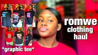 GRAPHIC TEE ROMWE HALL !! | SANIIMARIEE