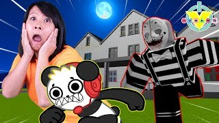 ESCAPE HAUNTED MANSION IN ROBLOX ! Let's Play Roblox Mansion with Ryan's Mommy Vs Combo Panda