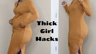 CURVY GIRL HACKS  to Instantly Look Slimmer in Clothes